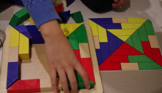 コロナで休校延長中の暇つぶしにシンクファンの知育パズルに大人も子供も夢中。